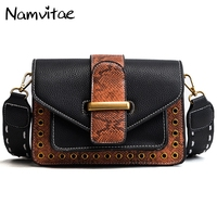 Namvitae Vintage Women Leather Handbags Snake Pu Leather Shoulder Bag Fashion Crossbody Bag for Laides Sac a main Messenger Bags