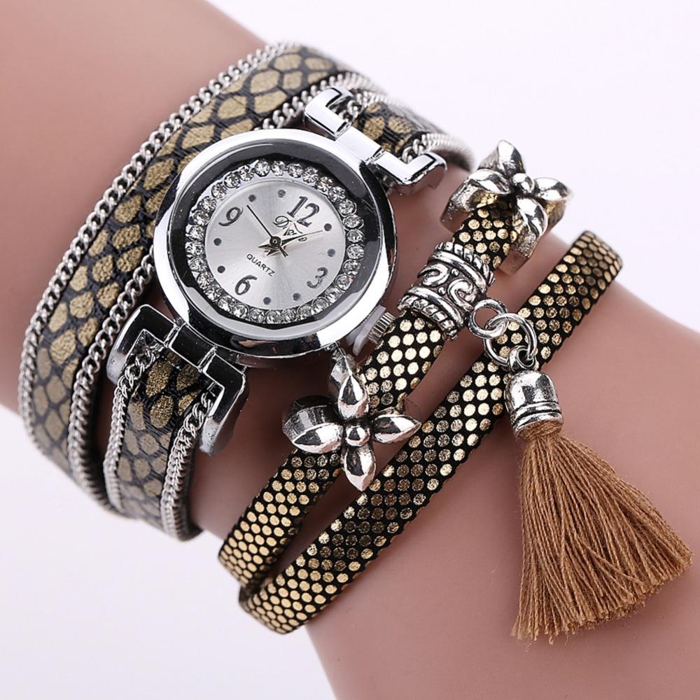 2018 Női órák Vintage lógó fülbőr női karóra Watch Relogio - Női órák
