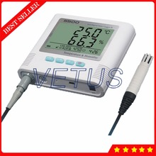 Big discount S500-EX Enternal Sensor 2 Channel LCD display Temperature Humidity Datalogger with USB Data Logger Recorder 4,3000 storage meter