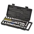 40 шт. набор трещоточных ключей из углеродистой стали  3/8 дюйма  ручка-ключ  1/4 3/8