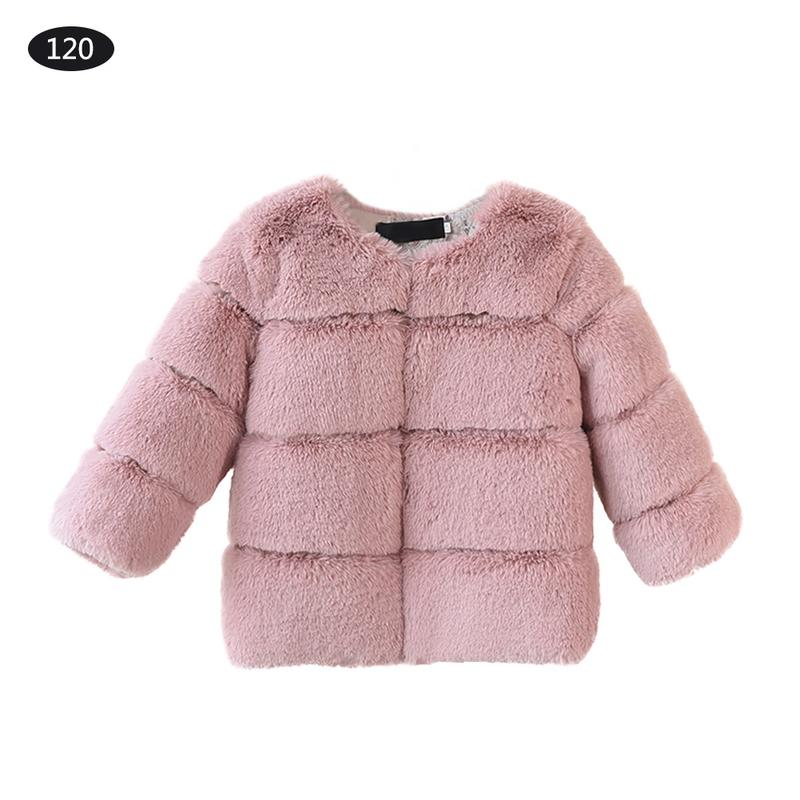 Children's Clothing Autumn Winter Girl Faux Fox Fur Coat Children Warm Outwear Soft Fur Baby Girls Jacket Fashion Princess girls fur coat clothing with pearl lace flower autumn winter wear clothes baby children faux fur dress dresses style jacket 2017