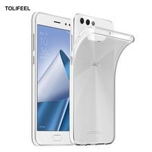 TOLIFEEL para Asus Zenfone 4 ZE554KL funda de lujo delgada de silicona suave TPU para Zenfone 4 ZE554KL carcasa trasera de teléfono transparente