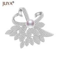 Elegant Pearl Flower Pins And Brooches Bouquet AAA Cubic Zircon Rhinestone Brooch Pin Wedding Bridal Apparel
