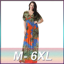 Plus size Sexy maxi long summer dress women clothing 2017 large big size elegant Boho beach tunic sundress vestido de festa(China)