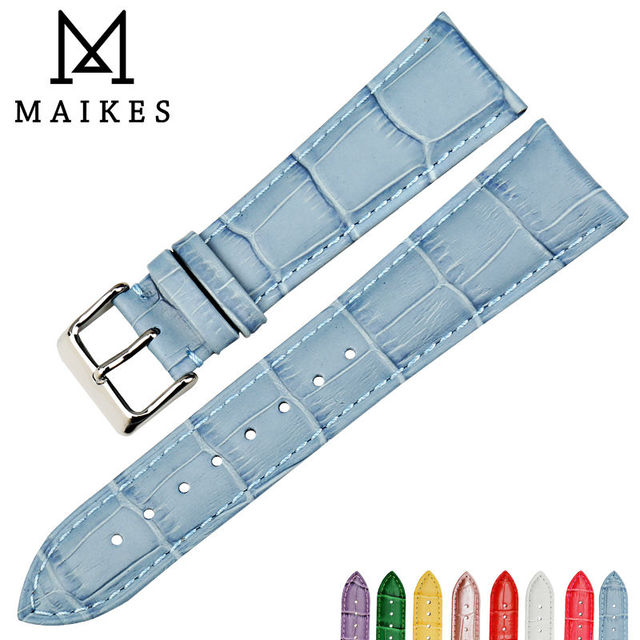 f94c994cdae MAIKES New watch accessories wristband watch bands cow leather watch strap  fashion blue watchband for dw daniel wellington