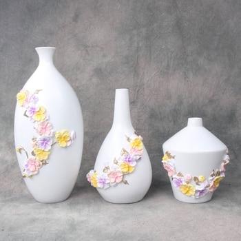 Abstract Beatiful Vintage Home Decoration Resin Tabletop Flower Vase TV Cabinet Living Room Desk Decor Wedding Decorations Gift