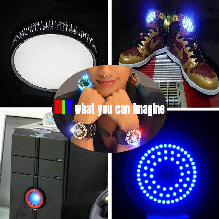 1 pièces adressable WS2812B SK6812 16/35/45 LED s Pixel anneau Modules DC5V RGB couleur LED anneau lampe lumière pour arduino kit de bricolage 5