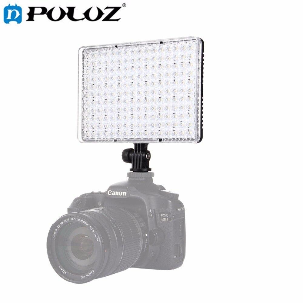 Lampe vidéo PULUZ 176 LEDs lumière Studio Photo lumière Flash Dimmable avec 2 plaques filtrantes pour Canon, Nikon, appareil Photo reflex numérique