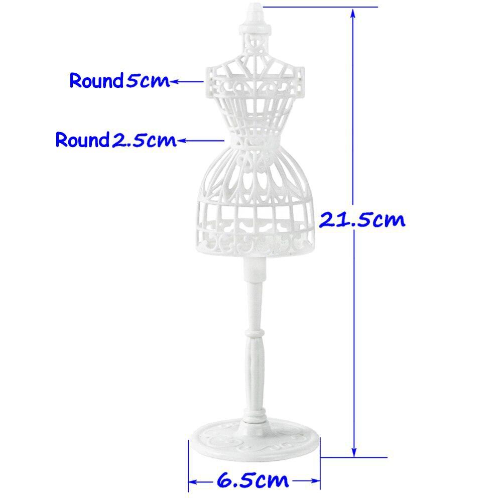 1P005B-白色镂空衣服展示架  (4)