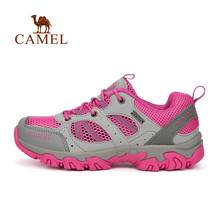 Camel outdoor women walking 2016 new design female mesh fabric breathable wear-resistant slip-resistant shoes sports shoes