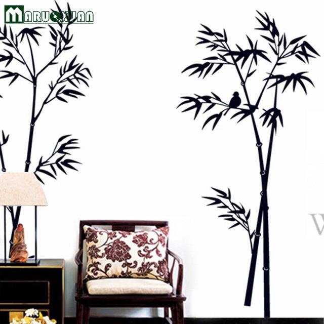 Schwarz Bambus Wandaufkleber Dekorative Aufkleber Wohnzimmer Schlafzimmer  TV Hintergrund Dekorative Wandaufkleber Außenhandel