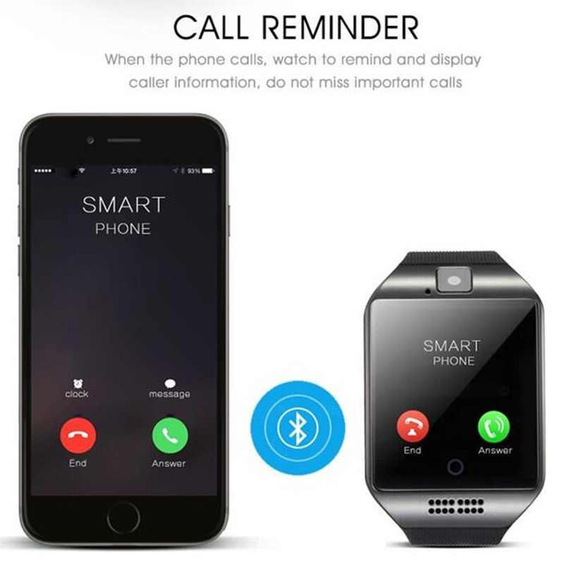 2018 GEJIAN Q18 Passometer นาฬิกาสมาร์ทหน้าจอสัมผัสรองรับ TF card Bluetooth smartwatch สำหรับ Android IOS โทรศัพท์