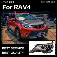 AKD Car Styling Head Lamp for Toyota RAV4 Headlight 2014 2016 Brand Eagle Eye New Rav4 LED DRL Hid Bi Xenon Auto Accessories