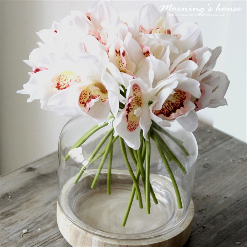 artificial flowers for wedding 9 color artificial orchid scrapbooking flower for a 1377