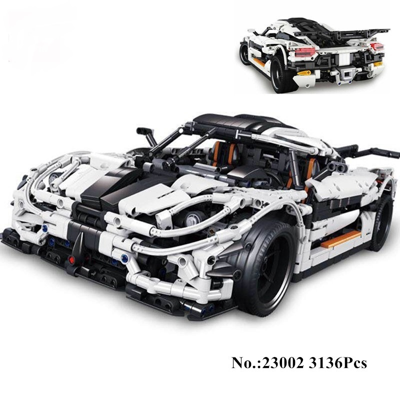 Lepin 23002 Technic Series Super Racing Car Set Children Educational Building Blocks Bricks Model Toys Compatible with Legoed lepin 20031 technic the jet racing aircraft 42066 building blocks model toys for children compatible with lego gift set kids
