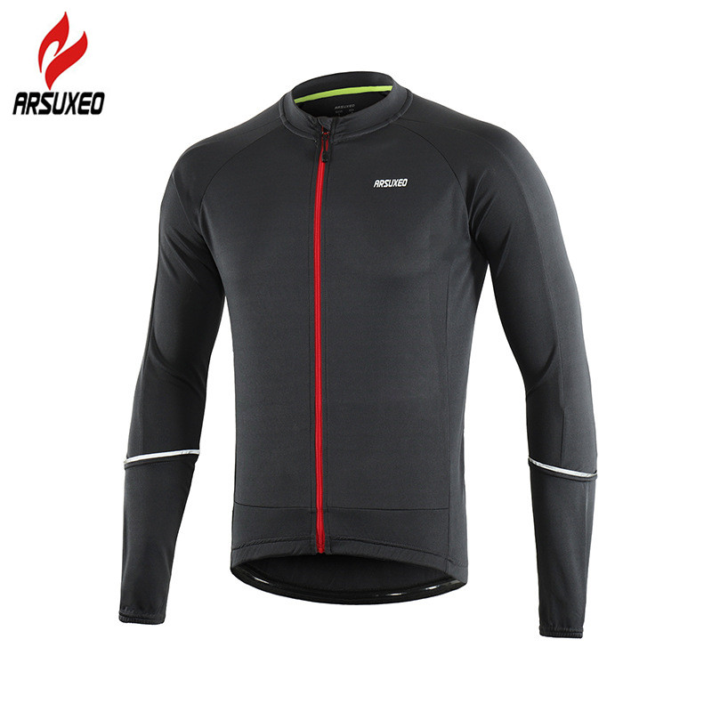 ARSUXEO Mens Cycling Jersey 2019 Long Sleeve Reflective Road Mountain Bike Shirts Bicycle Clothing MTB Downhill JerseysARSUXEO Mens Cycling Jersey 2019 Long Sleeve Reflective Road Mountain Bike Shirts Bicycle Clothing MTB Downhill Jerseys