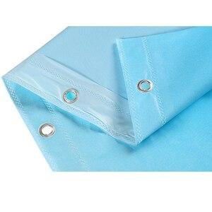Image 5 - עמיד למים אמבטיה אמבט וילון Peva כחול אוקיינוס טרופי דגי חוף 3d חם עם ווי פלסטיק מתנה