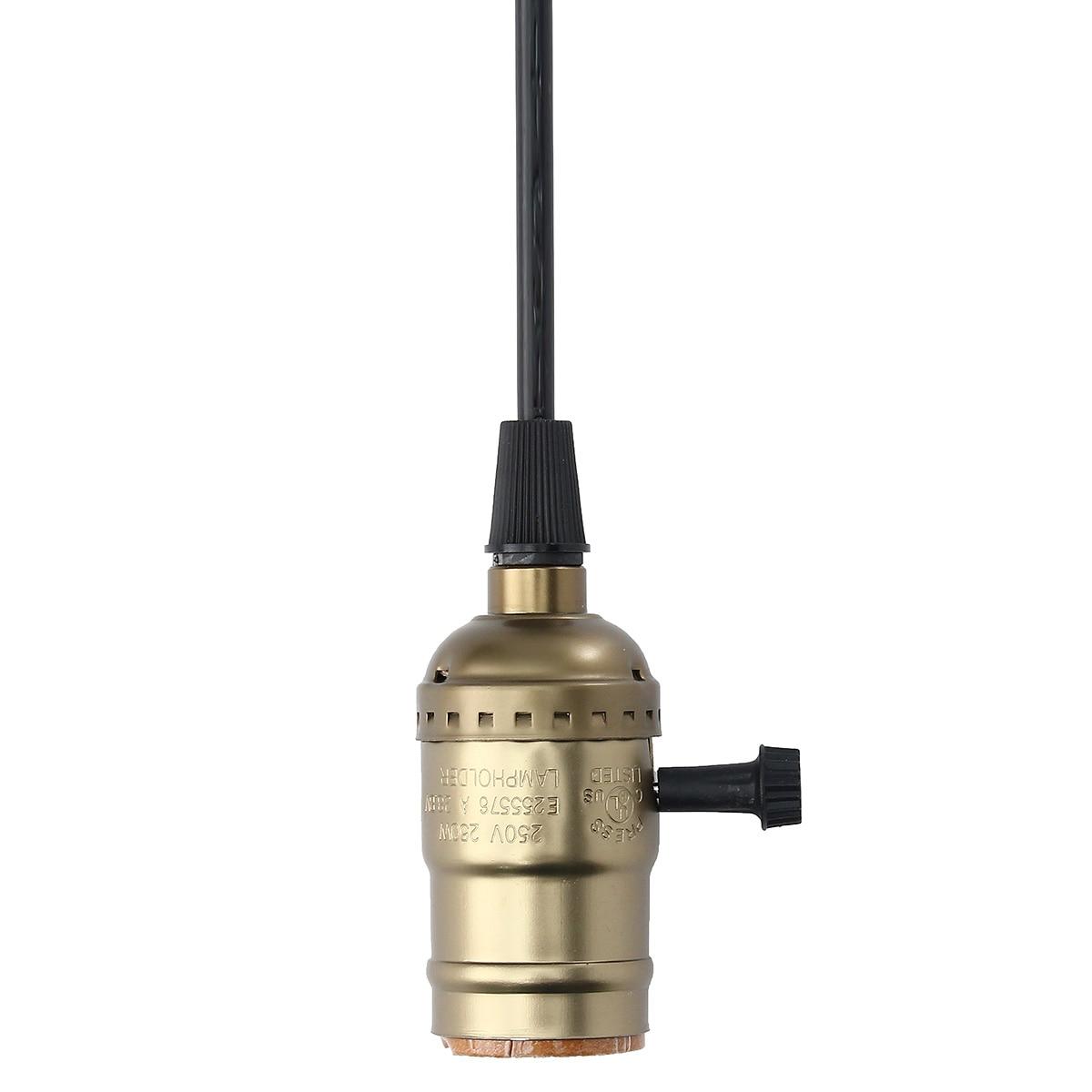 Smuxi Lamp Vintage Base E27/E26 With Swicth 2M Cord 250V 230W Vintage Edison Loft Pendant Light Bulb Socket Holder Lamp Base