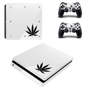 Image 4 - Pure White Green Leaf Weed PS4 Slim Skin Sticker Decal Vinyl for Playstation 4 Console and 2 Controllers PS4 Slim Skin Sticker