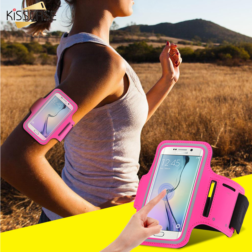 Workout Gym Running Sport Arm Band Case For iPhone 6 6S Plus 5S SE For Galaxy S7 S7 Edge S6 Edge Plus S5 A5 A7 Waterproof Bag