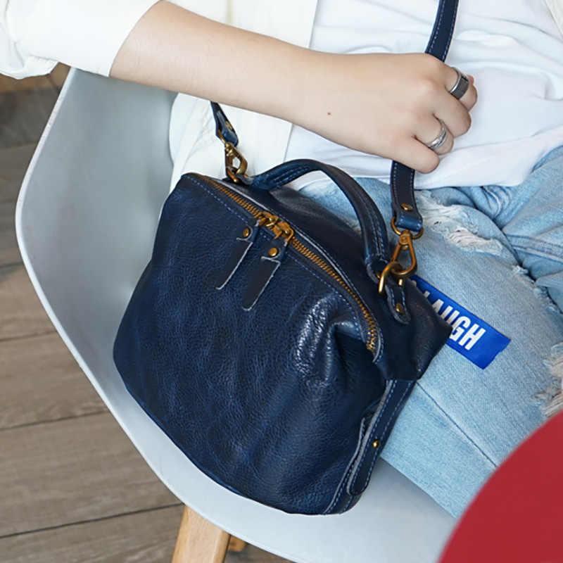 AETOO arte retro hand-held pequena bolsa de Couro, feito à mão fêmea do couro bolsa de ombro, saco de bolinhos de moda para fazer o velho