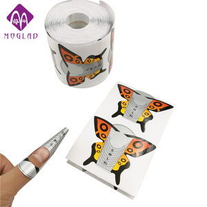 2017 New 100pcs/lot Butterfly shape design nail forms pretty nail art form for acrylic nail forms high-quality nail form