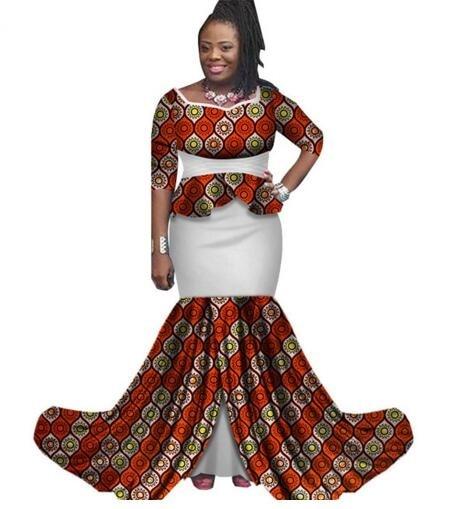 2018 nouveau style de mode femmes africaines bazin riche plus taille robe M  6XL dans Afrique Vêtements de Nouveauté \u0026 Usage Spécial sur AliExpress.com