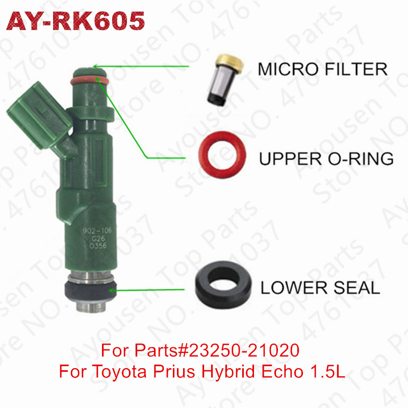 for Toyota Fuel Injector Denso O-Ring Repair Kit Set of 4 Camry Corolla Prius