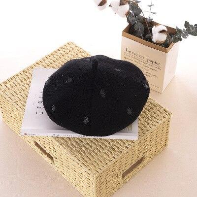 Ymsaid Wool Women's Berets Winter Warm Beret Casual Caps Vintage Wool Ladies Flat Cap Boinas Bone
