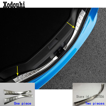 Car Cover Styling Inner Rear Trunk Bumper Trim Plate Frame Threshold Pedal For Toyota RAV4 2016 2017 2018 image