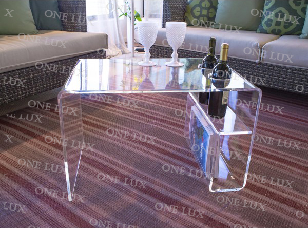 Pleasing Us 588 0 One Lux Acrylic Coffee Table With Wine Bottle Holder Lucite Magzine Tables Perspex Living Room Tables In Coffee Tables From Furniture On Machost Co Dining Chair Design Ideas Machostcouk