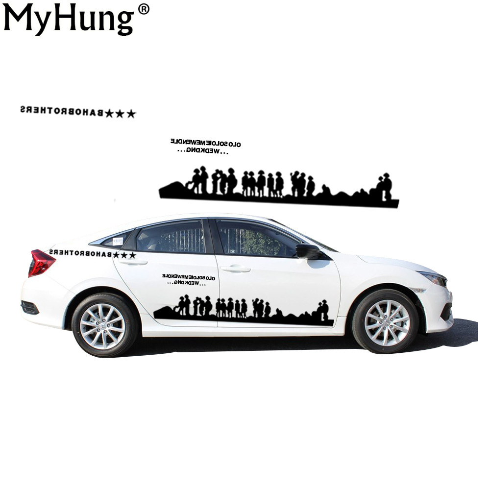 Car body sticker design singapore - Diy Personality For Honda Civic Waterproof Car Body Stickers Army World War Ii Soldier Character Auto
