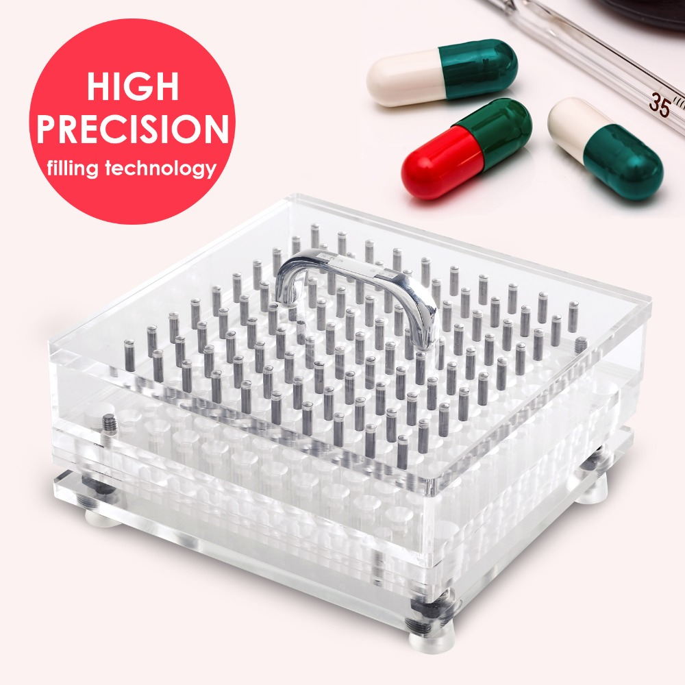 (100 Holes) High Precision, Size 4, CN-100CL Manual Capsule Filler/ Fillable Capsules Machine (Easy Cleaning Type)