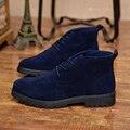 16 de Invierno Nueva Moda Hombres botas de cuero botines de gamuza masculina zapatos casuales transpirable de alta calidad zapatos de los hombres