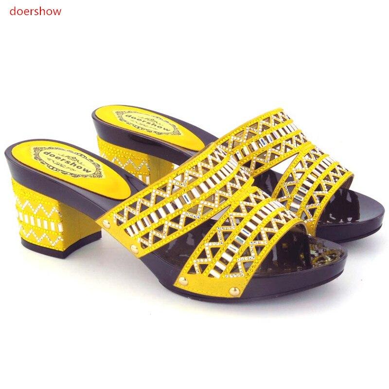 Italia Del A Zapatos rosy La Y Moda Negro amarillo verde 43 Para Con 24 Partido Juego Alta oro Bolso Size37 Zapato Italiana Calidad Doershow2017 Hzo1 Boda El Red t8vqwAE