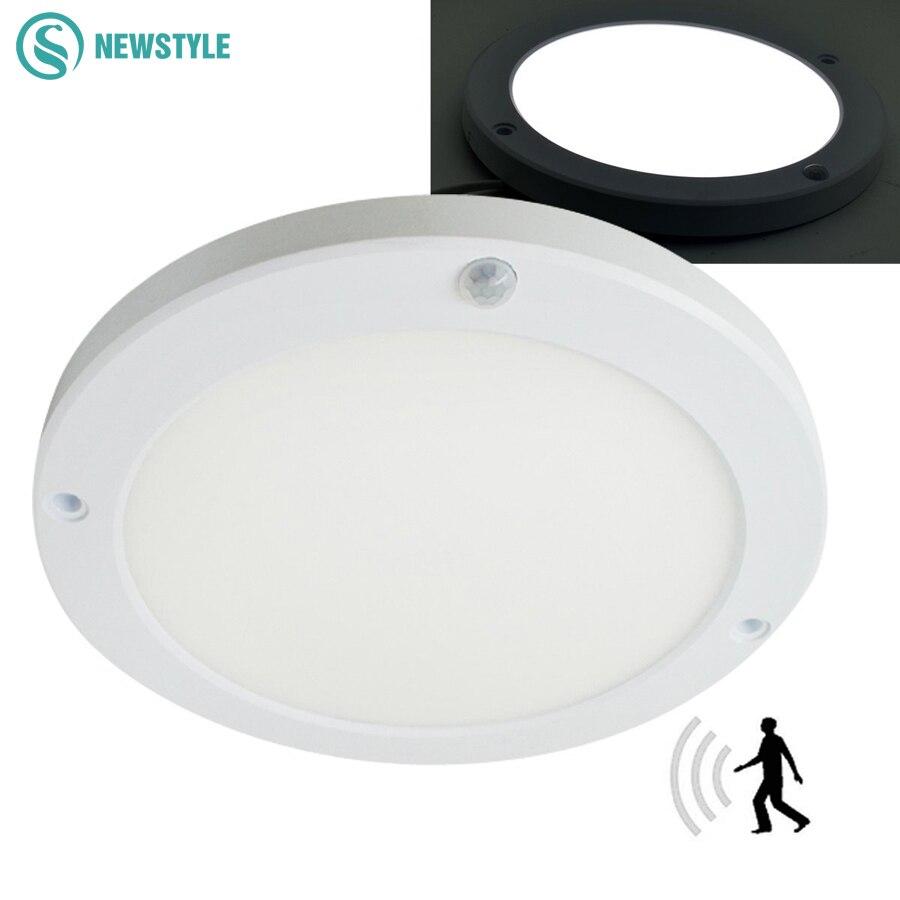 18W LED Panel Light Ceiling Lights Led sensor Downlight Human Body Infrared Detector Motion Switch Round Flush Mount Light