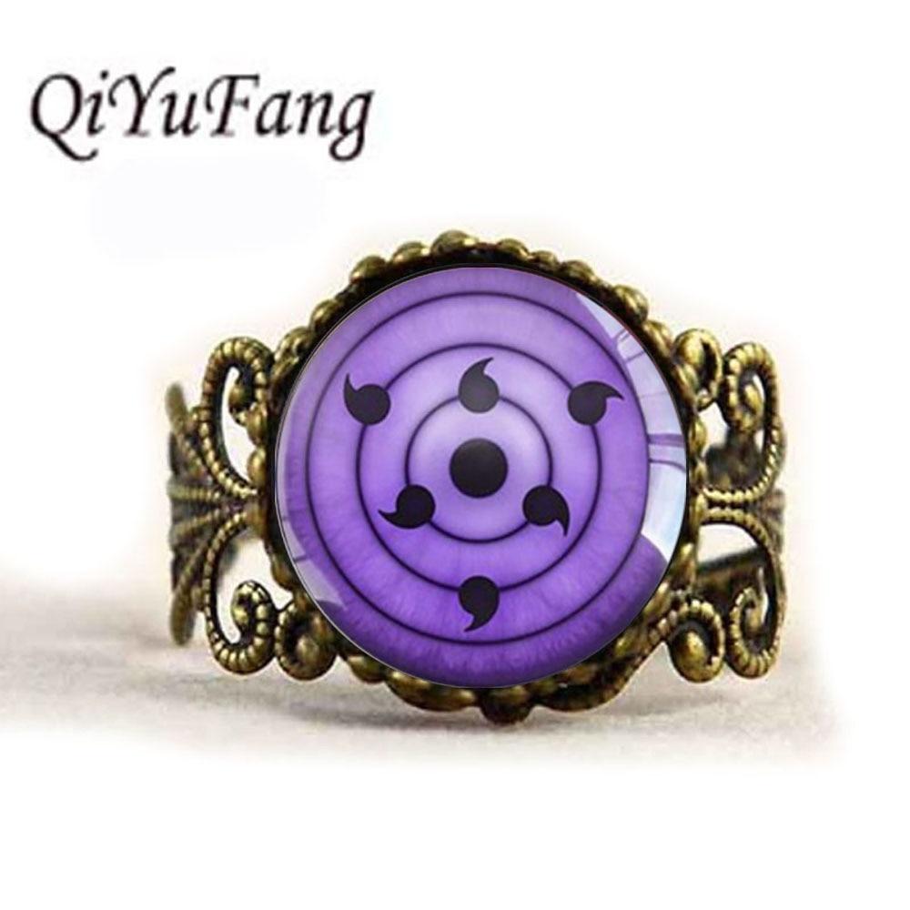 QiYuFang Purpl Eyes Naruto Ring Pendant Handmade Jewelry