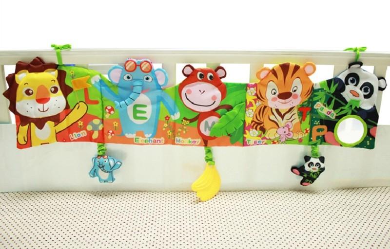Infant Activity Book Cartoon Animal Soft Baby Educational Toy Cloth Book Plush Animal Story Intelligence Developing Toy KF030 10