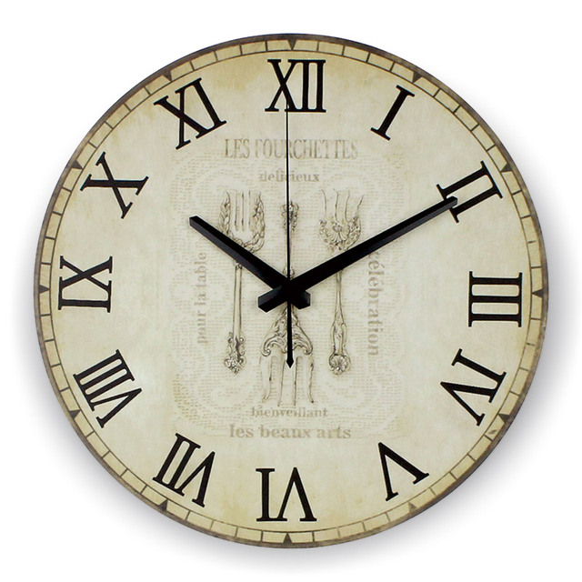 Kitchen Large Decorative Wall Clock Absolutely Silent Home Hours Decoration  Watch Wall Roman Numeral Orologio Parete