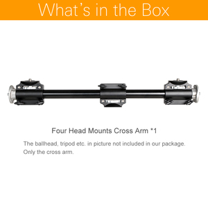 Image 2 - Aluminum 3/8 Screw Support Tripod Arm Rock Solid Cross Bar Side Arm for 4 Heads Head Professional Photography Studio Fixtures