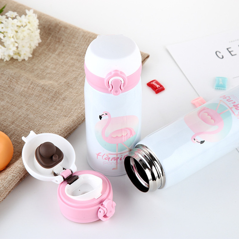 500ml Cartoon Flamingos Thermal Cool Insulation Water Bottle Portable Stainless Steel Vacuum Flask Summer Outdoor Drink Bottle|Water Bottles| |  - AliExpress