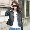 2017 New Genuine Leather Jacket Women Black Turn-down Collar Oblique Zipper Slim Fit Lday XXXL Fashion Biker Coat FREE SHIPPING