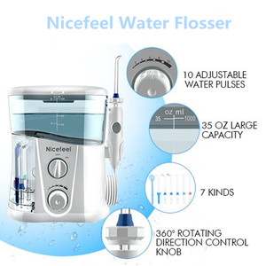 Image 3 - Nicefeel 1000ML eau dentaire Flosser électrique Oral irrigateur soins dentaire Flosser eau brosse à dents dentaire SPA avec 7 pièces conseils
