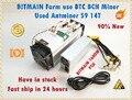 Gebruikt AntMiner S9 14 T Met Bitmain APW3 + + 1600 W PSU Asic BTC BCH Miner Beter Dan Antminer S9 s11 S15 T15 T9 WhatsMiner M3 M3X