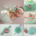 Handmade Lovely Newborn Infant Baby Girls Boys tutu Skirt Headband Costume Photo Photography Prop Outfits Hair Accessories Sets