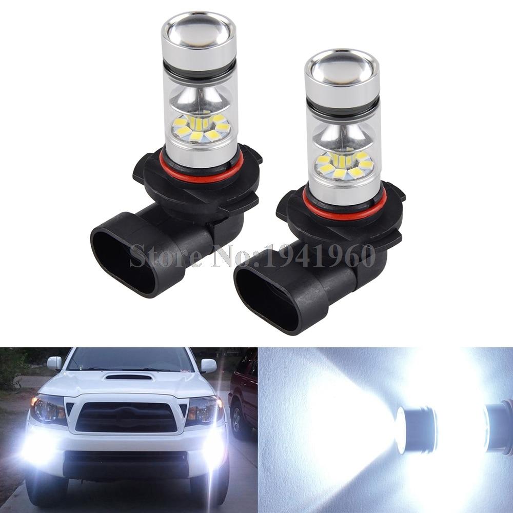 NICECNC Universal 2PCS 100W H10 9145 High Power LED Bulb Super White Fog Light Lamp Bulbs 6000K Car LED Light For Kia Ford Honda
