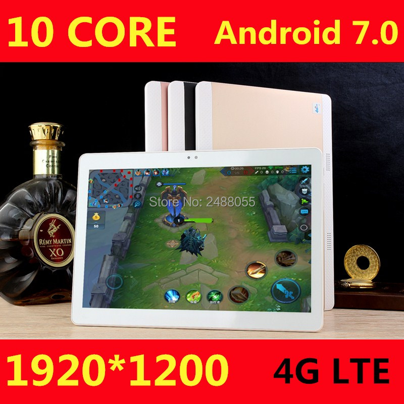 10 inch 4G LTE Tablets Deca Core Android 7 0 RAM 4GB ROM 64GB Dual