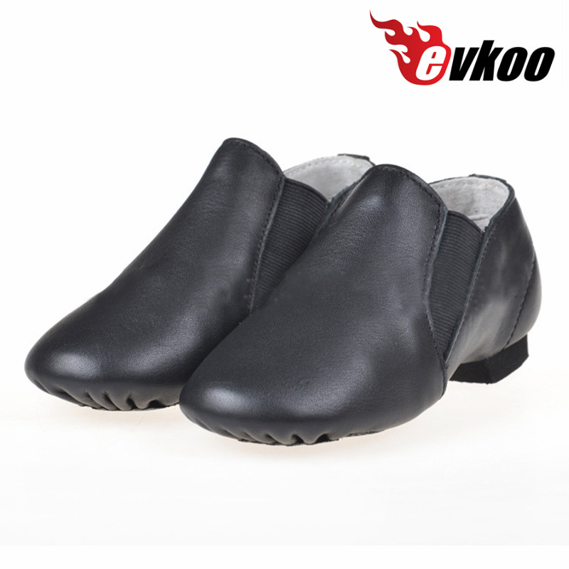 High quality Black Brown color women leather Jazz Dance Shoes for girls Adult EJ-002