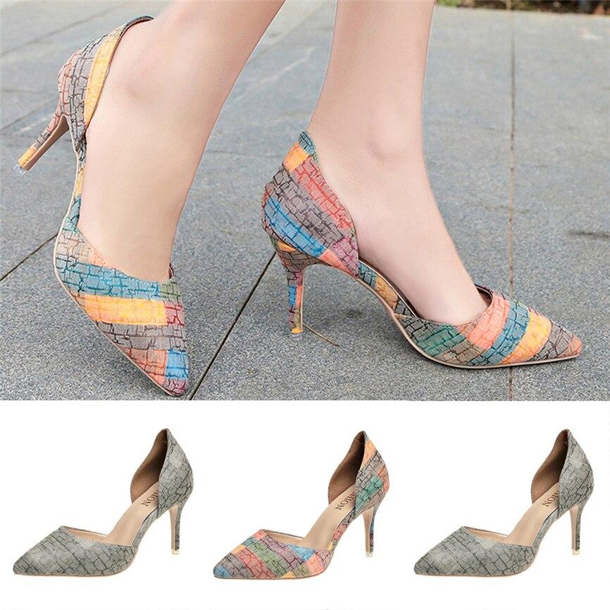 Behendig 2019 Zomer Vrouwen Sandalen Hoge Hak Stiletto Mode Romeinse Sandalen Slijtvast Casual Shoese Voor Meisje 40 ** Talrijke In Verscheidenheid