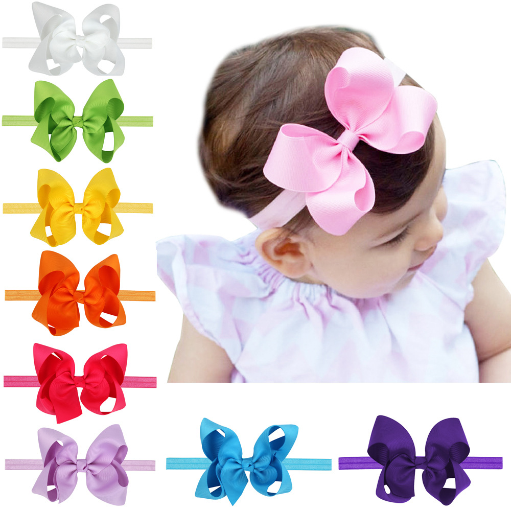 baby girl headband Infant hair accessories band bows newborn tiara headwrap Gift Toddlers bandage Ribbon cloth   Headwear